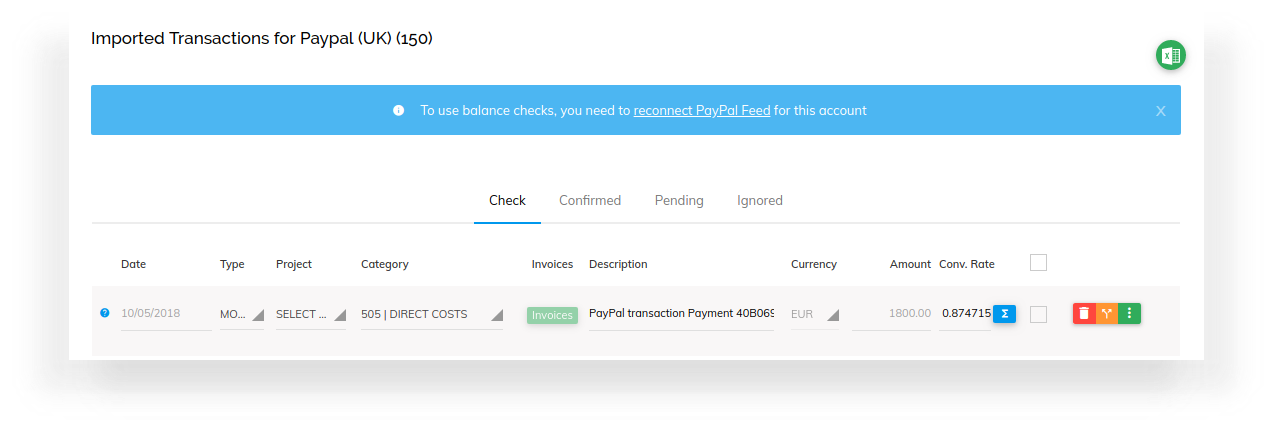 New Feature: PayPal Feed Balance Checks 1