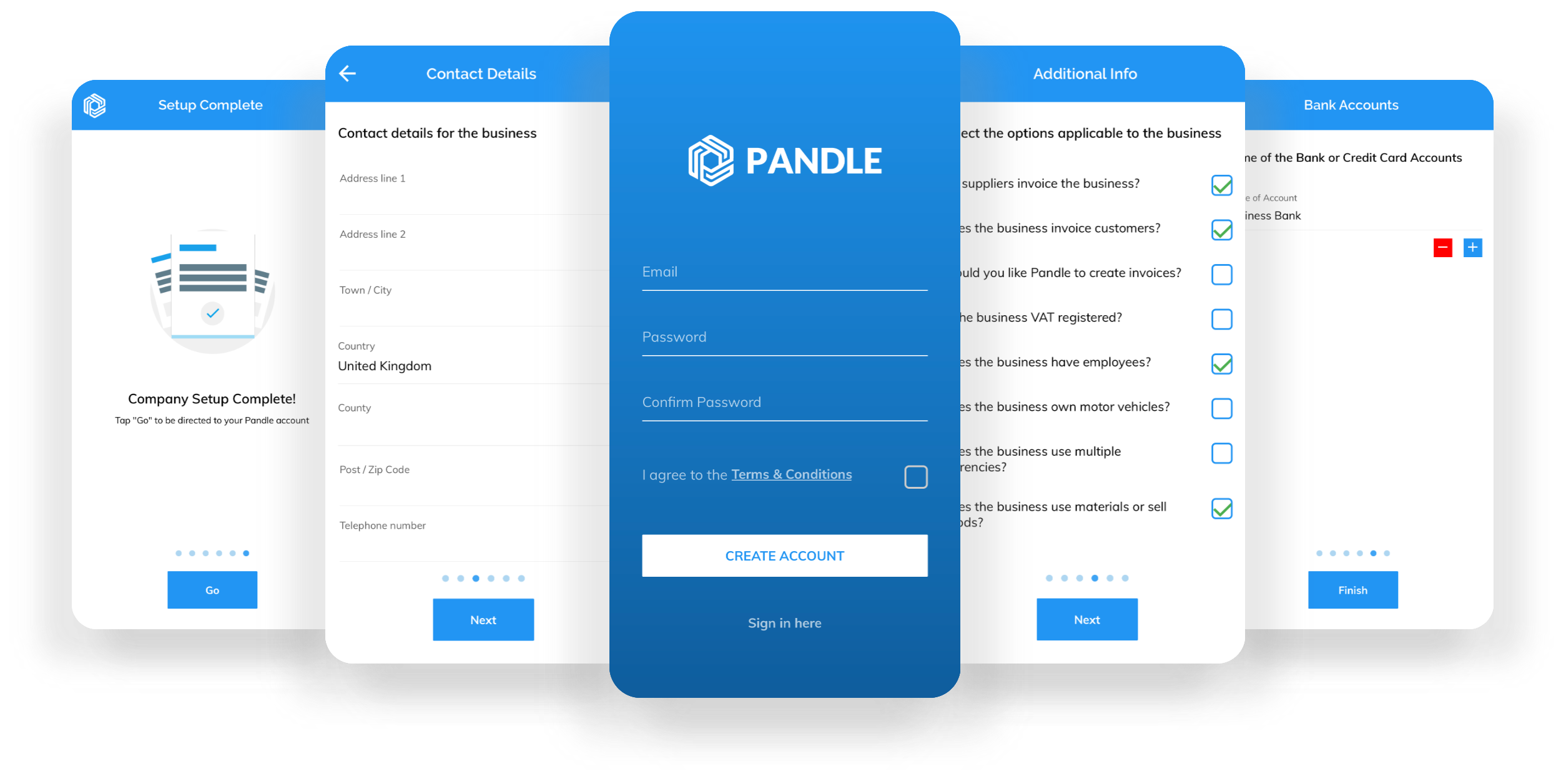 Create And Setup Your Account In Pandle Mobile 2